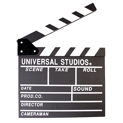 Fotga Movie Clapper 12''X11'' Clapboard Prop Chalk Board Wooden Director's Film Movie Slateboard (Director Snap Board)
