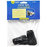 Sunmark Cane Tips Black For 7/8 Inch Diameter Canes- 2 tips