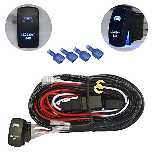 mictuning led light bar wiring harness fuse 40a relay on. Black Bedroom Furniture Sets. Home Design Ideas