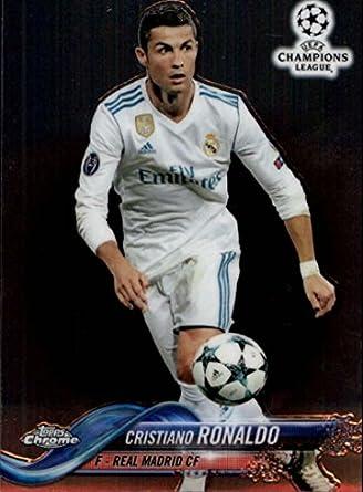 57d091efb55 Soccer Pro 2018 Topps Chrome UEFA Champions League  93 Cristiano Ronaldo