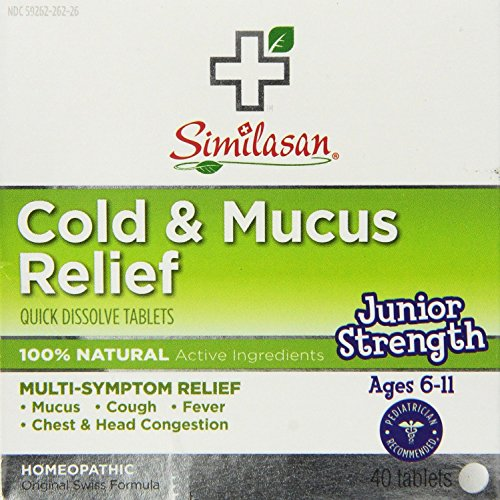Similasan Cold and Mucus Relief Junior Strength Tablets, ...