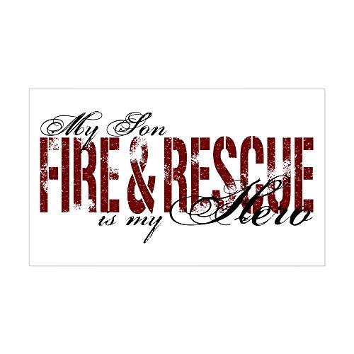 CafePress Son My Hero - Fire & Rescue Rectangle Sticker Rectangle Bumper Sticker Car Decal