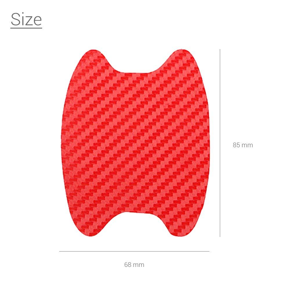 Kikier Colore: Nero AntiGraffio 4 Pezzi Pellicola Protettiva Universale 3D in Fibra di Carbonio per Maniglia della portiera dell/'Auto