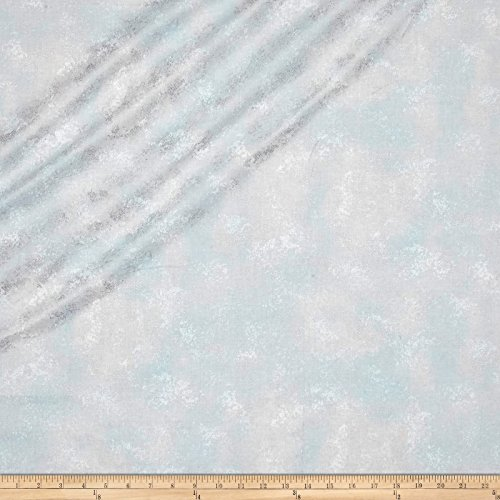 (RJR Fashion Fabrics Serene Spring Rustic Shimmer Frost Metallic Fabric by The Yard)