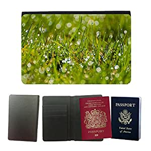 Passeport Voyage Couverture Protector // M00157228 Antecedentes herboso hierba tallos // Universal passport leather cover