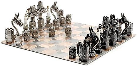 De Metal Design Ajedrez Tablero De Ajedrez Y Figuras Amazon Es Hogar Son goku es un luchador valeroso que no teme a ningún mal. de metal design ajedrez tablero de ajedrez y figuras
