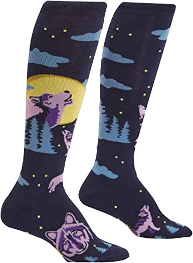 Sock It To Me Howl At The Moon Womens Knee High Socks