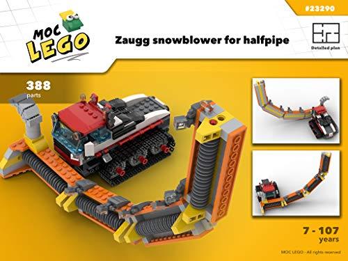 Zaugg snowblower forsnowboard halfpipe (Instruction Only): MOC LEGO