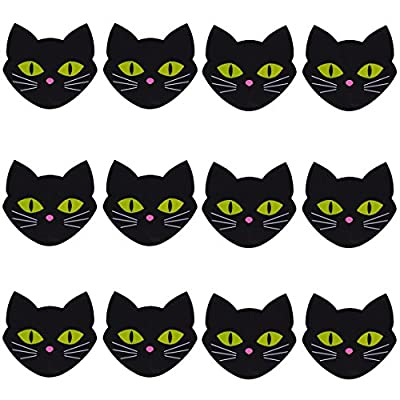 6 Pairs Black Cat NippleCovers Satin Pasties Disposable Self Adhesive Breast Petals
