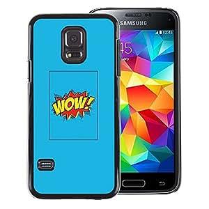 Red-Dwarf Colour Printing Wow Cartoon Comic Blue Poster Text - cáscara Funda Case Caso de plástico para Samsung Galaxy S5 Mini, SM-G800, NOT S5 REGULAR!