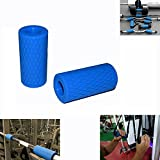 E2shop Dumbbell Grips, Fat Grips, Barbell Grips Thick Bar Adapter Muscle Builder Weightlifting Fat Grips (2X4(inch)) (Blue) Review
