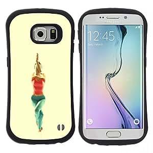 "Hypernova Slim Fit Dual Barniz Protector Caso Case Funda Para Samsung Galaxy S6 EDGE [garudasana yoga poza""]"