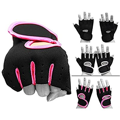 Equipment - Weight Lifting Padded Leather Gloves Fitness Body Building Cycling - Soft Cushioned - 1PCs