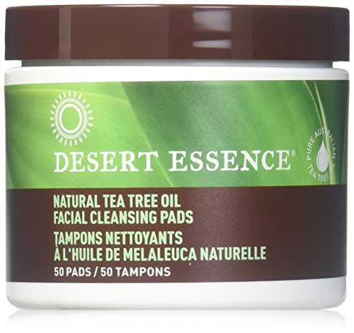 Desert Essence Natural Cleansing Pads with Tea Tree Oil, 2 (Dessert Essence)