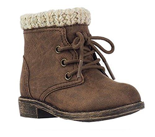 Garanimals Girls' Pre-Walk Combat Boot, Size 6 (Combat Boots For Toddlers)