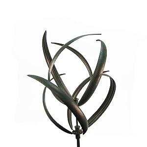 TG,LLC Double Blade Kinetic Wind Spinner Huge Garden Yard Art Rustic Lawn Decor