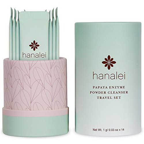 Powder Face Cleanser by Hanalei (Cruelty free, Paraben free) (Papaya Travel Set (14 packets x 1g))