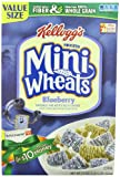 Kellogg's Frosted Mini Wheats Bite Size Blueberry Muffin Cereal 21-ounce (Pack of 4)