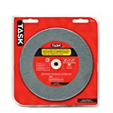 Task Tools T35745 6-Inch by 1-Inch Silicon Carbide Bench Grinding Wheel, 80 Grit, 1-Inch Arbor