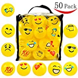 Youngever 50 Emoji Pit Balls, Ball Pit, Crush Proof Plastic Ball Pit with Sturdy Clear Bag