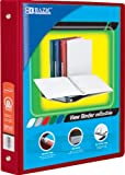 BAZIC 1.5'' Red 3-Ring View Binder w/2-Pockets