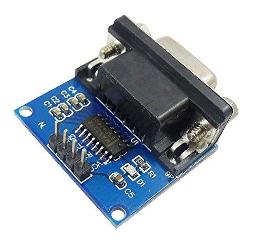 Aihasd MAX3232 RS232 a TTL Puerto Serial Convertidor DB9 Conector MAX232