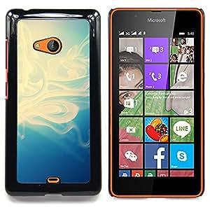 Qstar Arte & diseño plástico duro Fundas Cover Cubre Hard Case Cover para Nokia Lumia 540 (Motif bleu)