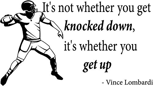 Vince Lombardi Inspirational Football Vinyl Wall Decals Quotes, Quote It! -