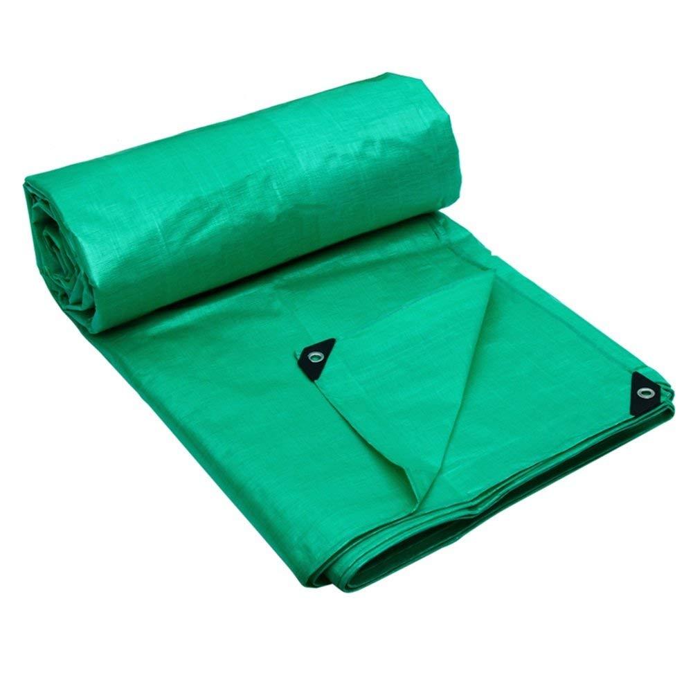 MONFS Home Regenschutztuch wasserdicht Plane wasserdicht und Winddicht Gartenschutz Anlage Sonnencreme liefert LKW Fach Tuch Faltbare Anti-Oxidation (Farbe   Grün, Größe   6X8M)
