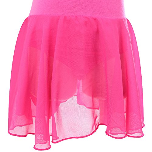 TFJH Girls Hotpink Big Lace Outfit Gymnastic Active Wear Sleeveless Dresses 2 Leotard Dress 5rBrxZw7q