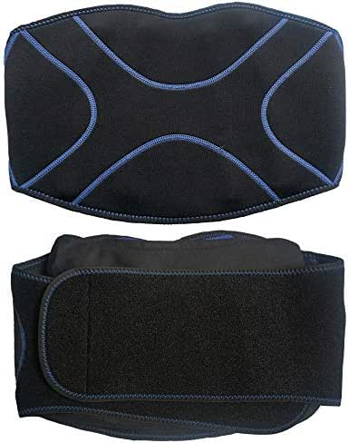 MR.ICE Ice Pack Lumbar Brace Lower Back Support Wrap Hot/Cold Compression – Alleviates Pain from Back Surgery, Arthritis, Swelling, Sciatica, Degenerative/Slipped Discs, and Sports Injuries