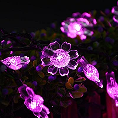 Elobeth Solar Powered Sunflower LED Christmas Light Gardens Homes Christmas Party Decoration