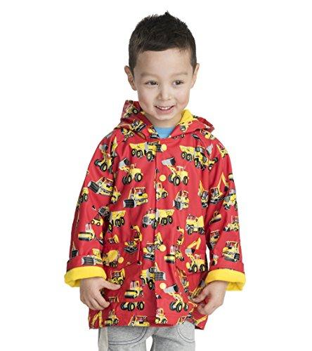 Hatley Boys' Little Printed Raincoats, Heavy Duty Machines, 8