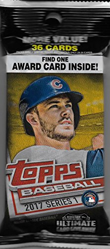 2017 Topps Series One MLB Baseball Factory Sealed JUMBO FAT Pack with 36 Cards including an EXCLUSIVE MLB Awards SILVER PARALLEL ()