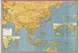 16x24 Poster; Wwii Map Of Southeast Asia Japan China India 1943