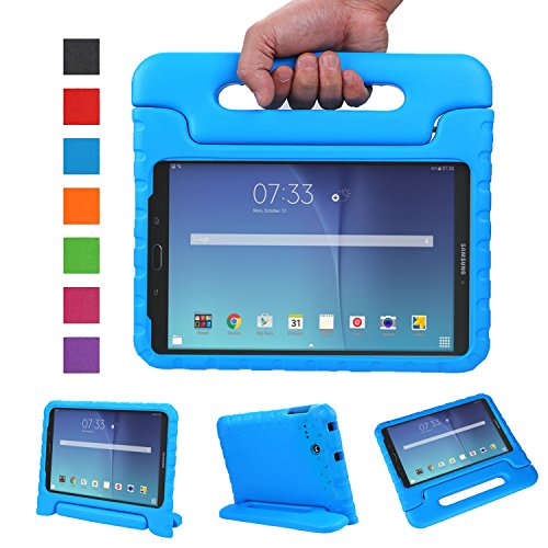 NEWSTYLE Tab E 8.0 Kids Case - Shockproof Light Weight Protection Handle Stand Kids Case for Samsung Galaxy Tab E 8.0 Inch 2015 Tablet (Not Fit Other Tablet) (Blue) (Galaxy Tap 3 Kids Case)