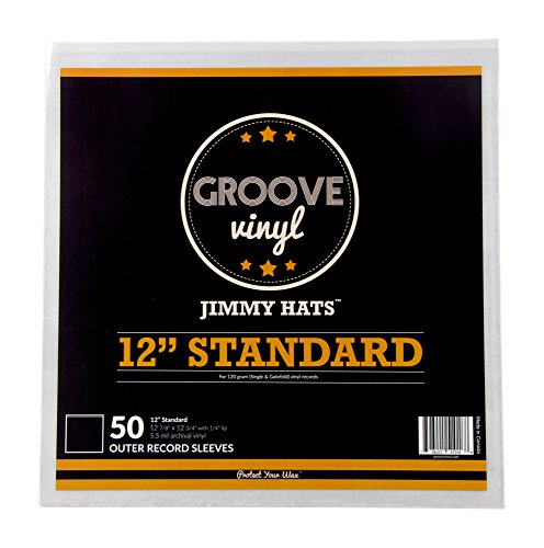 12 Inch Standard Premium Outer Record Sleeves for 120g Single and Gatefold Albums (50 Pack)