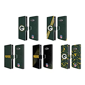 Official NFL Green Bay Packers Logo Leather Book Wallet Case Cover For Samsung Galaxy Grand Prime