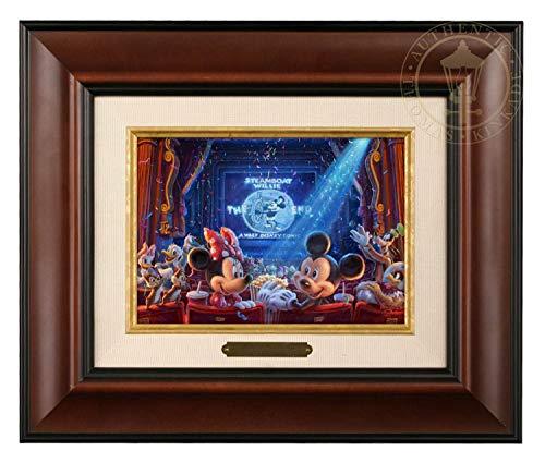 Thomas Kinkade Studios Disney 90 Years of Mickey Brushwork (Burl Frame) ()