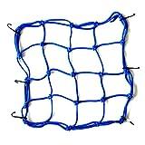 MagiDeal Motorcycle Cargo Net Helmet Mesh Bag Storage Organizer Fastener - Blue