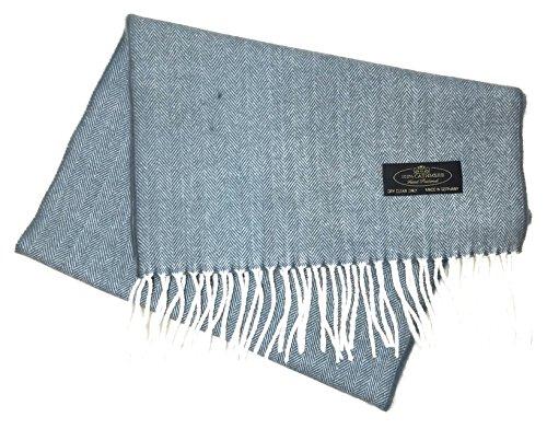 100% Cashmere Soft Wool Tweed Scarf Made in Germany (Grey (Tweed Wrap)