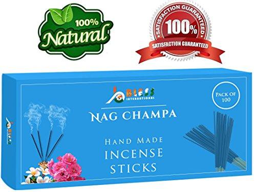 Nag-Champa 100-Incense-Sticks-135-Gram 100%-Natural-Incense-Sticks Handmade-Hand-Dipped The-best-scent