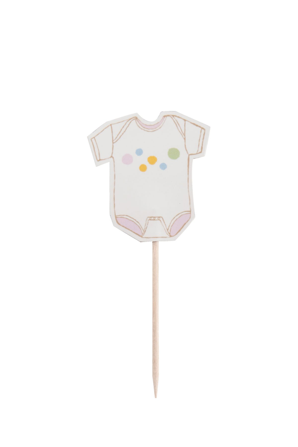 Penelope's Parties Baby Shower Cupcake Toppers, Oh Baby, 12-Count