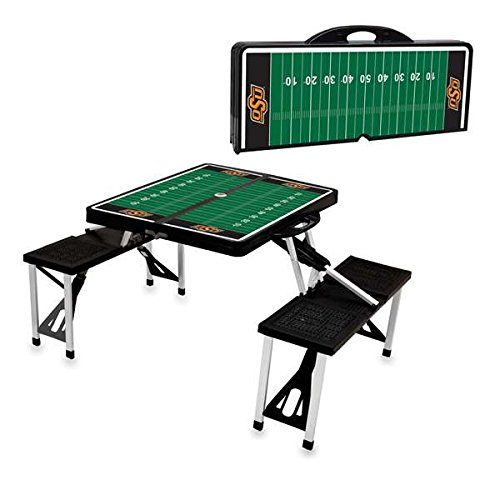 NCAA Oklahoma State Cowboys Digital Print Picnic Table Sport, Black, One Size ()