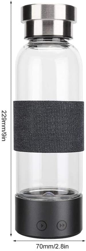 Hydrogen Generator Water Bottle 480ml 1300mAh Portable USB Rich Hydrogen Cup Electrolysis Ionizer Water Generator Bottle with Intelligent LED Display
