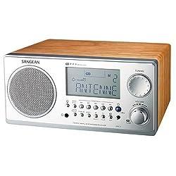 Sangean WR-2 AM / FM-RBDS Wooden Cabinet Digital Tuning Radio (Walnut)