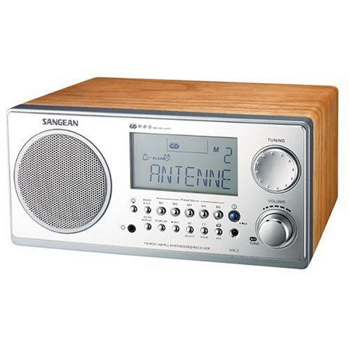 Sangean WR-2 AM / FM-RBDS Wooden Cabinet Digital Tuning Radio (Walnut)