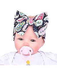 Tenworld Baby Infant Bowknot Headdress Girl's Soft Turban Headbands Headwrap