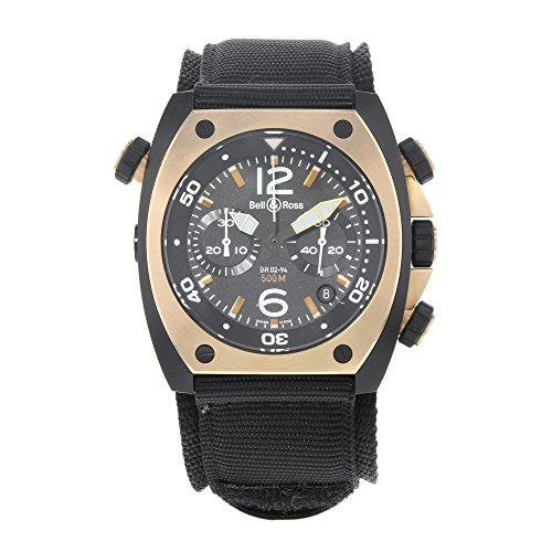 Bell-Ross-Marine-BR02-CHR-BICOLOR-Matte-PVD-Black-Steel-Automatic-Mens-Watch
