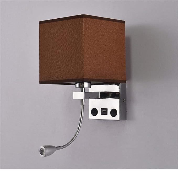 Amazon.com: Lámpara de pared americana con conector USB ...